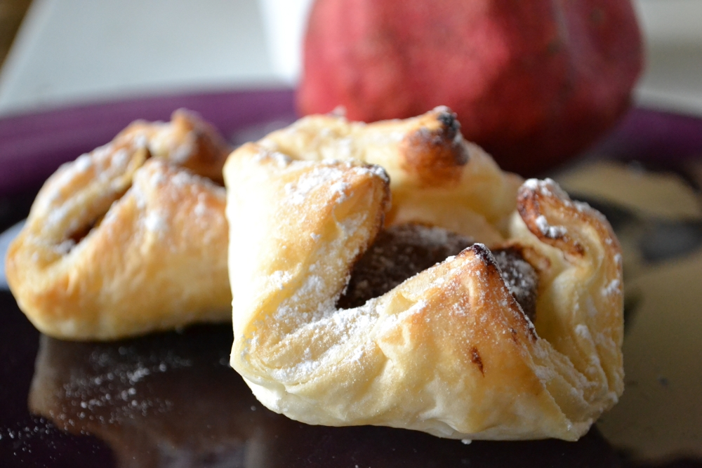puff pastry chocolate pear recipe
