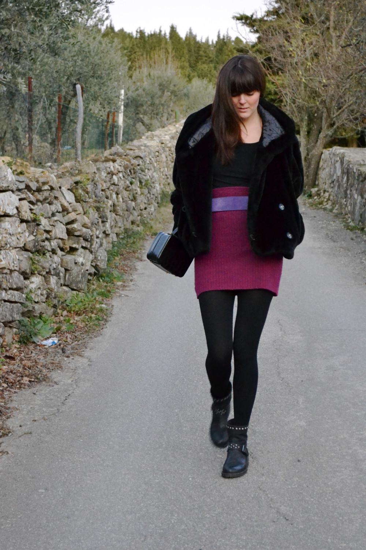 Faux fur vintage