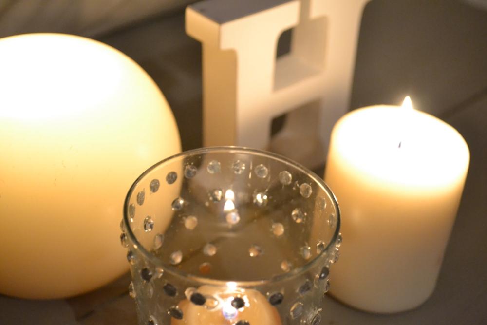 diy crystals candle holder