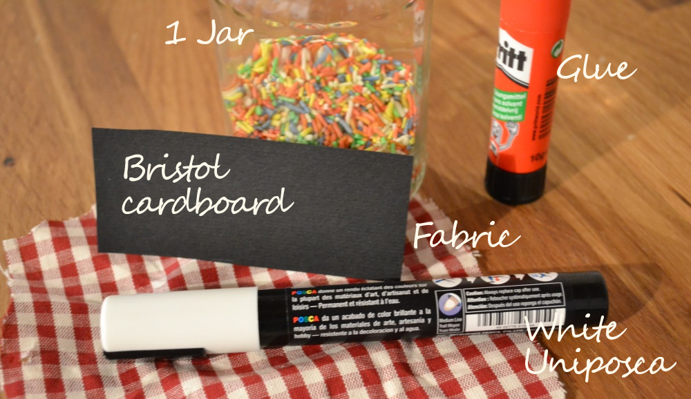 DIY jar project to organize kitchen  - what you need
