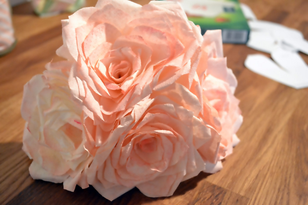 how to paper roses coffee filters